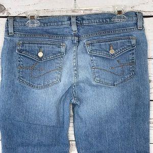 Tommy Jeans Capris Cropped Low-Rise Button Flap